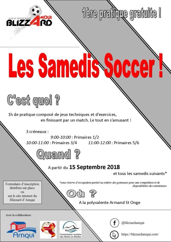 affiche samedi soccer